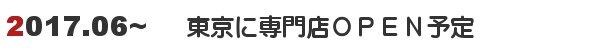 2017.06から東京に専門店がオープン予定