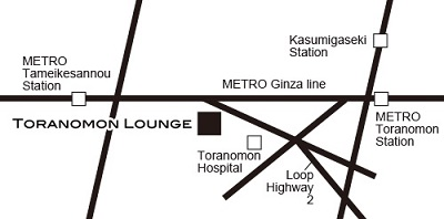 Rethink Lounge Toranomonの地図