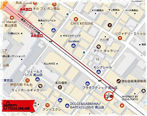 グロー(glo)ストア青山 MAP