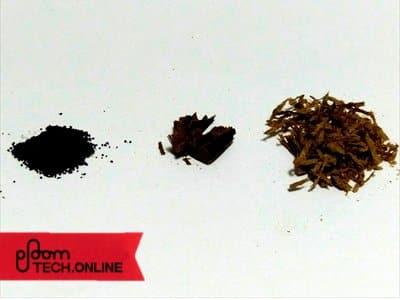加熱式3社のたばこ葉比較