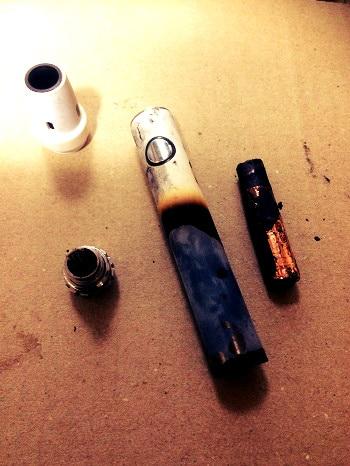 電子タバコ、加熱、炎上