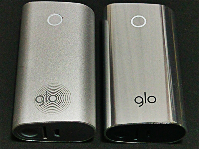 クロム・グロー(chrome glo)と定番グローのボディ比較