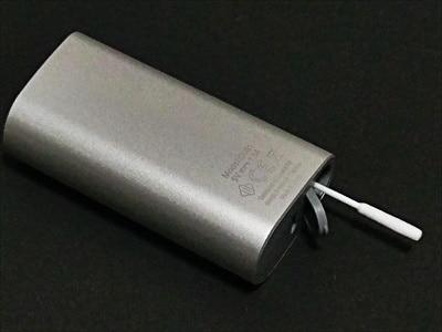 クリーニング用フラップ側の綿棒
