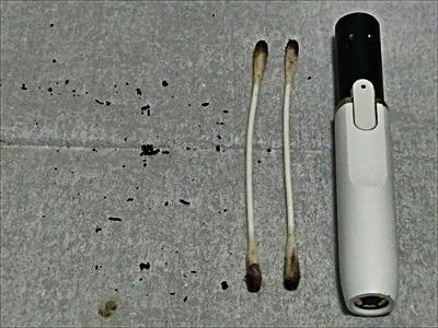 綿棒の汚れ具合