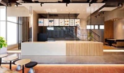 プルーム・ショップ渋谷店のカフェコーナー