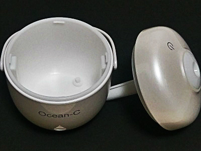 Ocean-C加湿器のタンクとフタ
