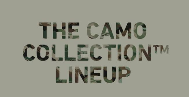 THE CAMO COLLECTION™ ラインナップ