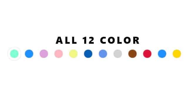 キャップのカラーはなんと2桁超え