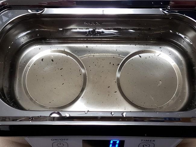 アイコス3のキャップ洗浄後の水槽