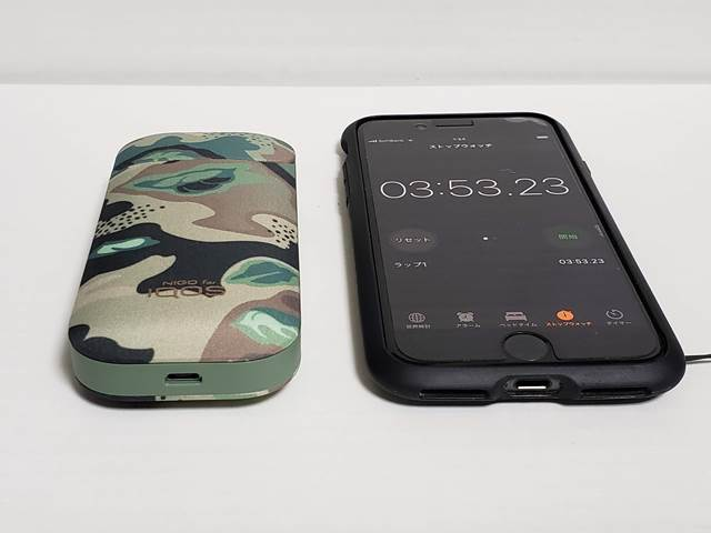 IQOS 2.4 PLUS CAMO COLLECTION充電時間