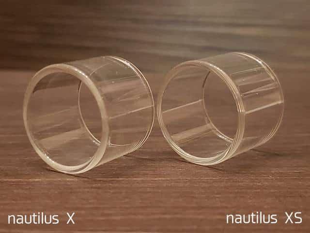 XとXSの比較(ガラスチューブ横)