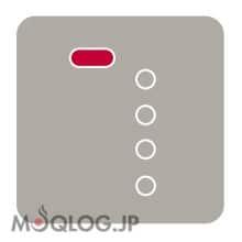 モード表示LEDが赤色に点灯している