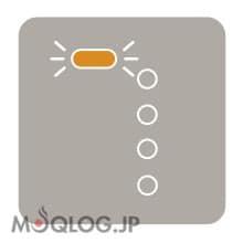 モード表示LEDがオレンジ色に点滅している