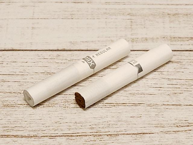 専用たばこMIIXとヒートスティックの比較