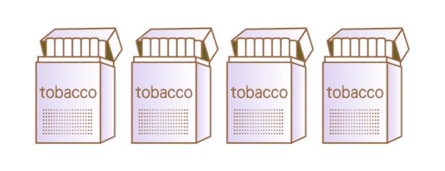 たばこ4箱相当