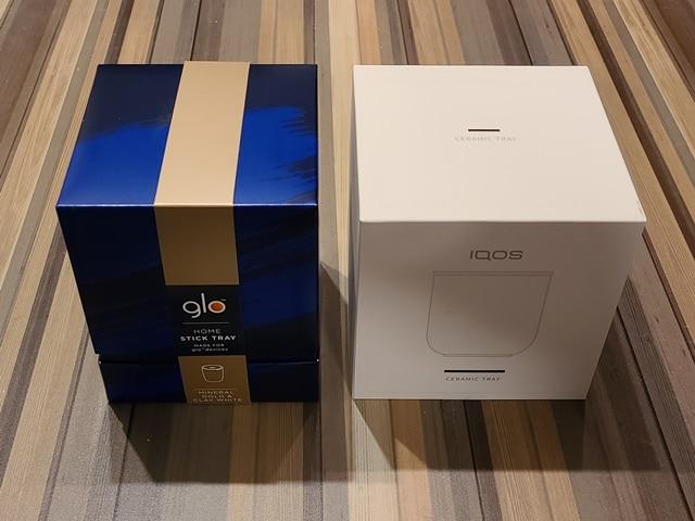アイコスとグローの灰皿比較その2パッケージ