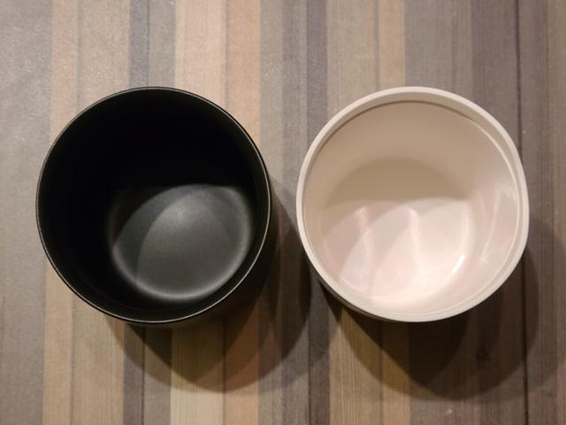 アイコスとグローの灰皿比較その4容量上から