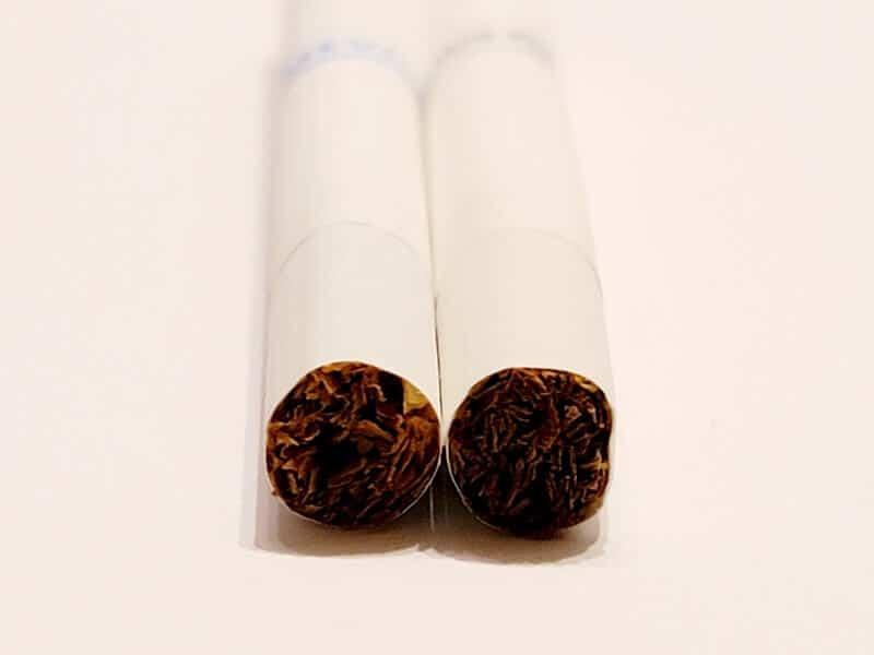 新旧のたばこ葉の比較