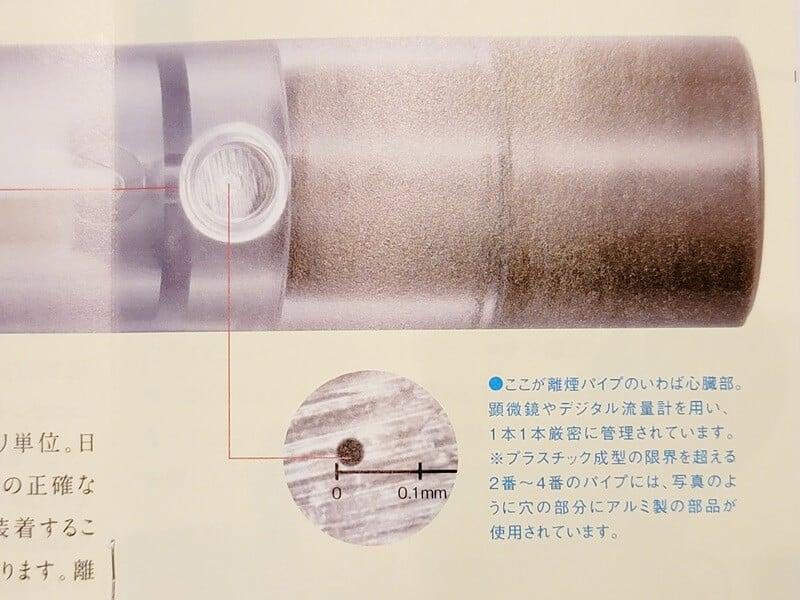 離煙パイプの穴のサイズ2