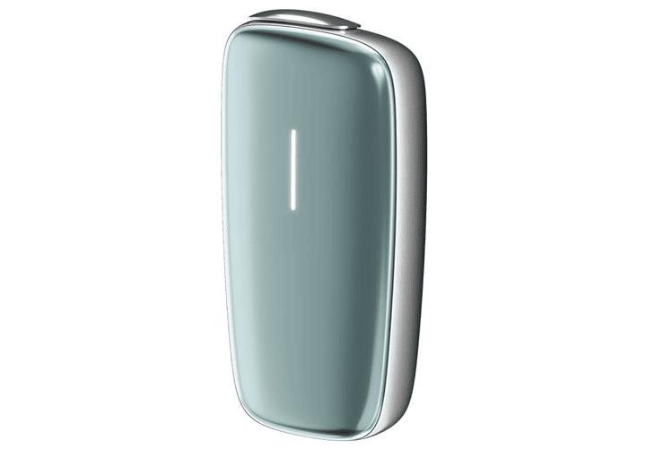 プルームエックス(シルバーカラー)にセレストブルーのフロントパネルを装着した際のイメージ