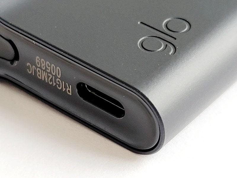 グロープロスリムの充電ポート