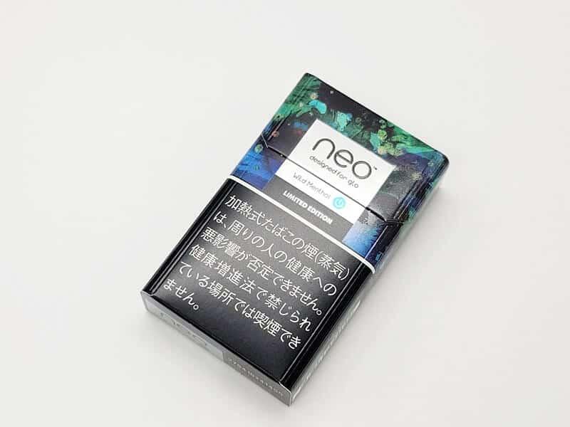 限定版「ネオ・ワイルド・メンソール・スティック」のパッケージ表